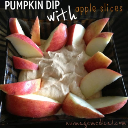 Skinny Pumpkin Dip with Sliced Apples for Ph3